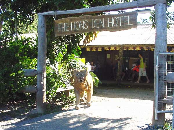 The Lion's Den Hotel front entrance