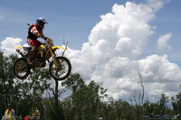 Bike in air