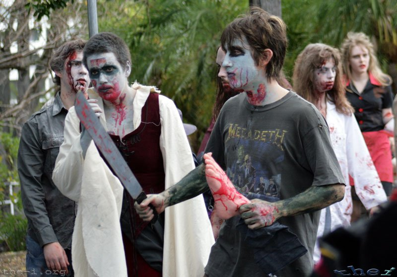 Zombies dismembering people