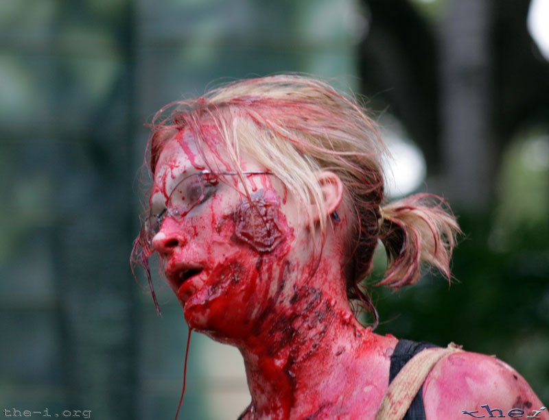 Flesh wounds on Zombie
