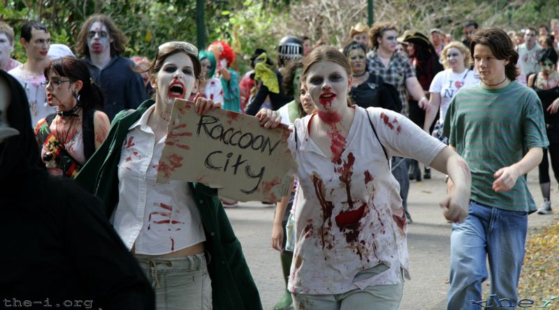 Zombies hitching to Raccoon City
