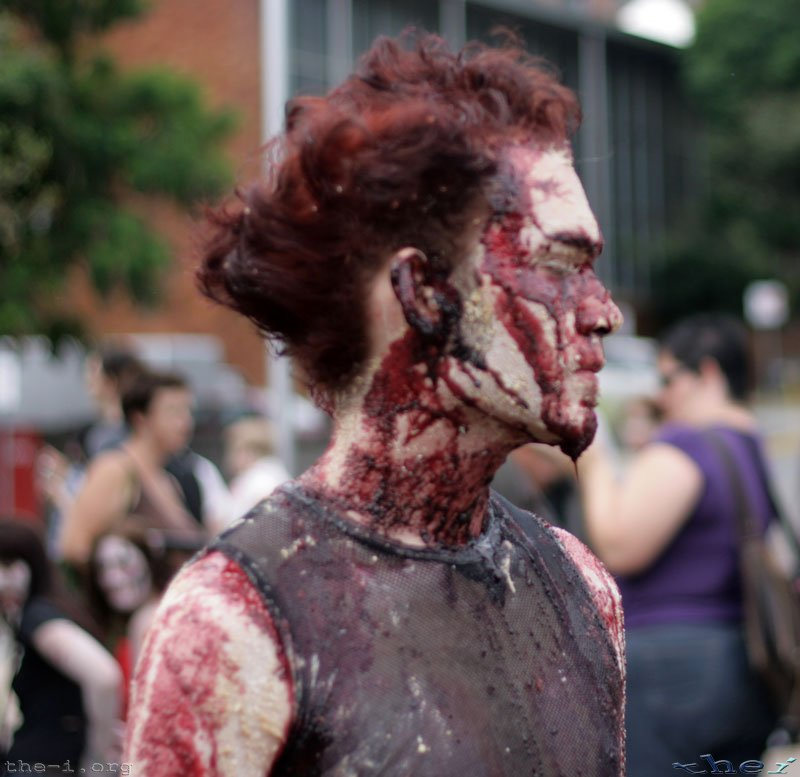 Zombie with lots of Makeup