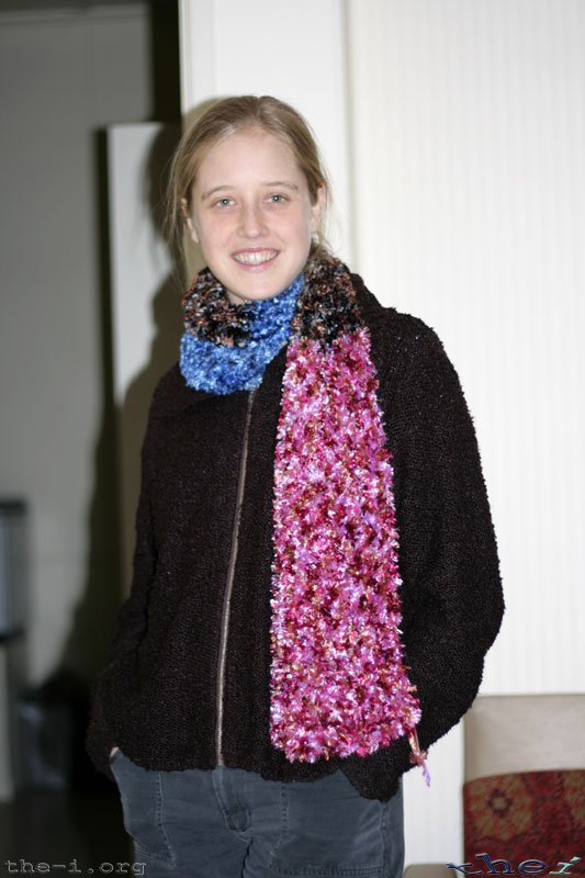 Bronwen and scarf